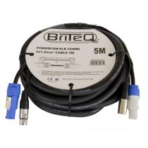BriteQ POWERCON/XLR COMBI CABLE 5M